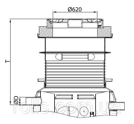 Надставка для сепаратора жира ACO Lipumax P NS 2 класс нагрузки B125 T 885-1195мм