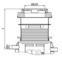 Надставка для сепаратора жира ACO Lipumax P NS 2 класс нагрузки B125 T 885-1195мм, фото 1