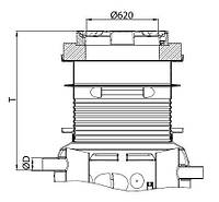 Надставка для сепаратора жира ACO Lipumax P NS 5,5 класс нагрузки B125 T 910-1855мм, фото 1