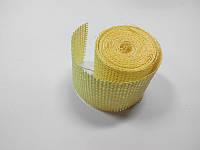 Сетка флористическая натуральная бледно желтая