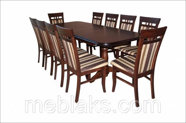 """Стол для гостинной деревянный раскладной """"Престиж"""" 200(+40+40)х100х76 см  Fusion Furniture"""
