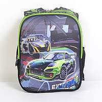 Модный школьный рюкзак для мальчика - Тачки Extreme 3D - 87-1102