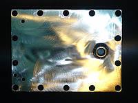 Боковые пластины (пара) электролизера 200х150х3мм AISI304