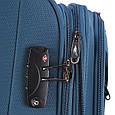 Черный 4-колесный практичный средний чемодан 69/80 л. March Flybird 2452/07, фото 8