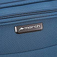 Черный 4-колесный практичный средний чемодан 69/80 л. March Flybird 2452/07, фото 10