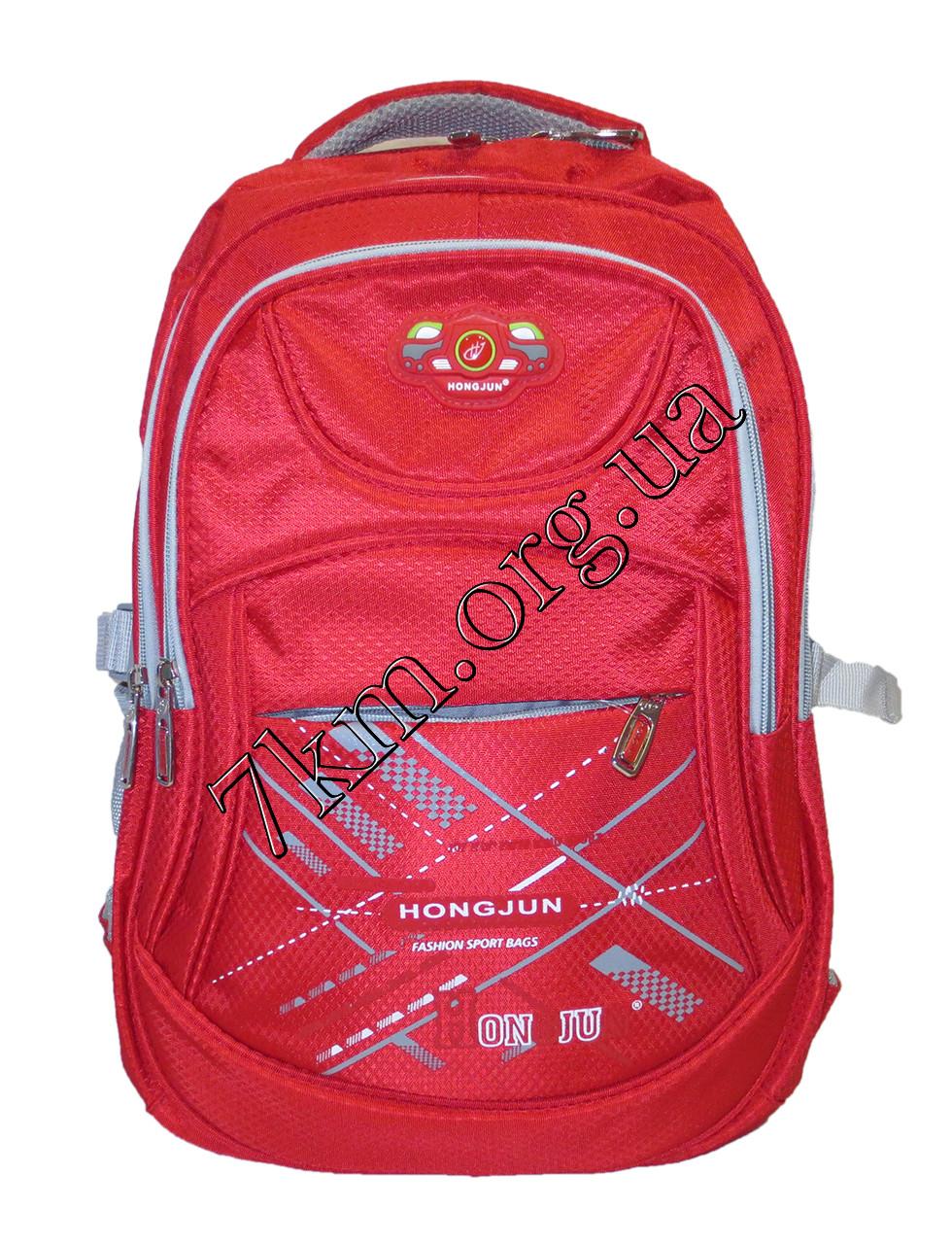 """Школьный рюкзак для мальчиков и девочек """"Hongjun"""" красный Вьетнам (45х35см.)"""
