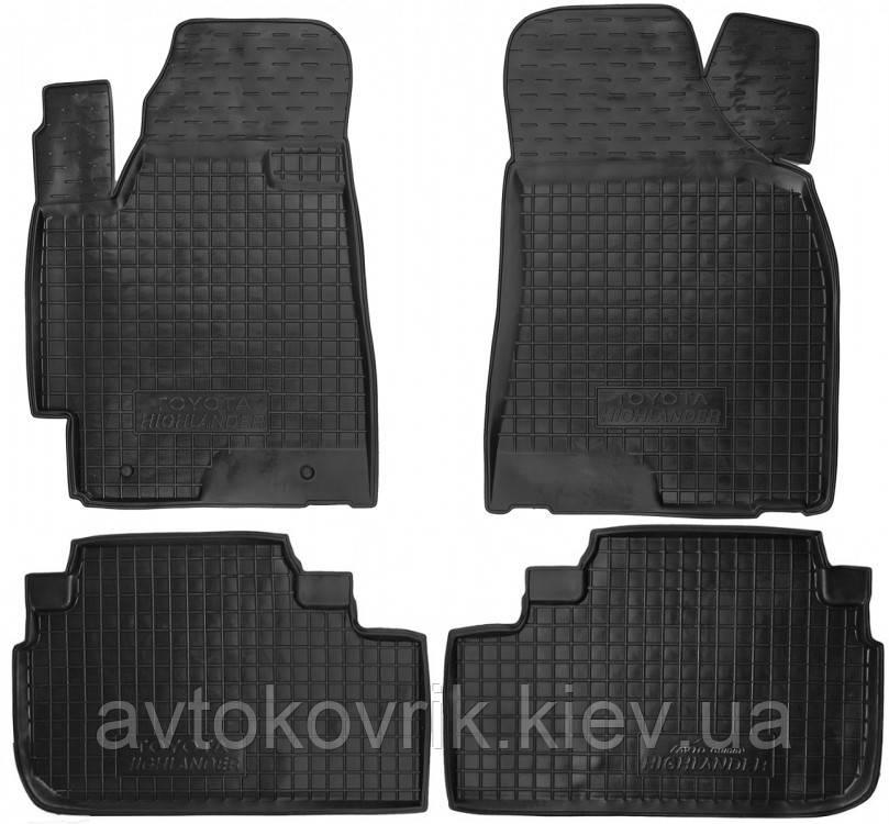 Полиуретановые коврики в салон Toyota Highlander II (XU40) 2008-2013 (AVTO-GUMM)
