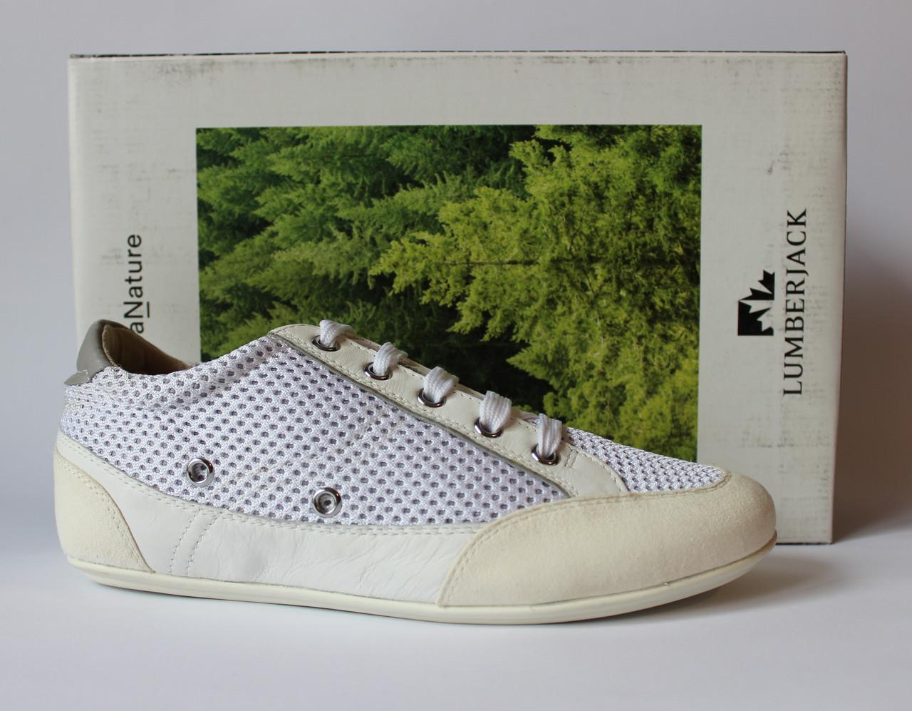 Шикарные кожаные кроссовки-сникеры Lumberjack, Италия-Оригинал
