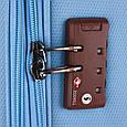 Малый чемодан 4-колесный из полиэстера 37 л. March Flybird 2453/54 голубой, фото 5