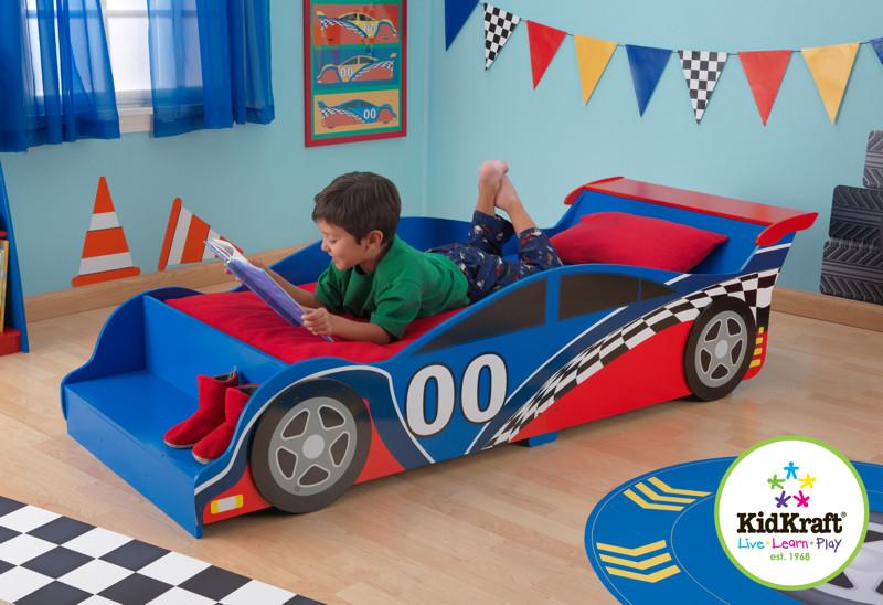 Детская кроватка Гоночная машинка KidKraft 76038