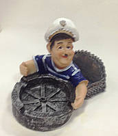 Пепельница Моряк, 12х10х10 см, Морские сувениры, Морские аксессуары