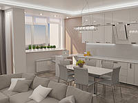 Авторский дизайн интерьера кухня-гостиная