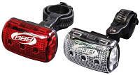 Комплект фонарей BBB Micro Led  CombiLaser пер. бел. LED & зад. 4x AAA (BLS-53)