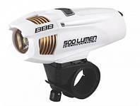 Фара BBB Strike 500 lumen LED (белая) rechargealbe lithium ion 2300mAh battery (BLS-72)