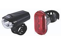 Фара BBB EcoCombo  EcoBeam Фара BBB 0.2W чурн. 3x AAA с краснымlaser rear light  выставочный экземпляр