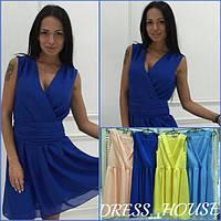 Красивое и нежное летнее шифоновое платье (много расцветок) r-5031781