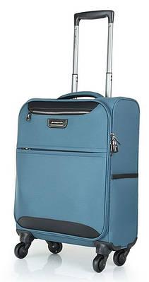 Малый чемодан 4-колесный из полиэстера 37 л. March Flybird 2453/54 голубой