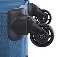 Малый чемодан 4-колесный из полиэстера 37 л. March Flybird 2453/54 голубой, фото 7