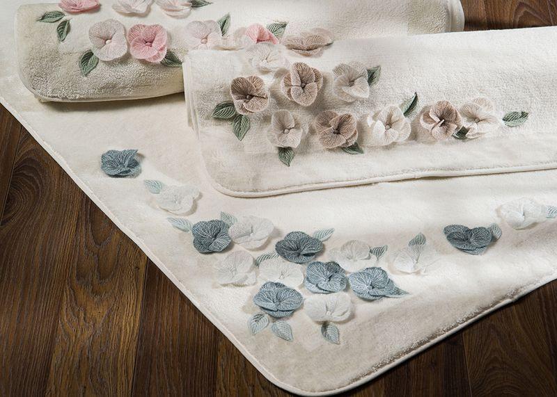 Коврик для ванной комнаты хлопок/бамбук Adney blue 70*120 белый. - April House производство и продажа товаров для дома в Одессе