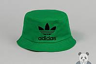 Стильная зеленая панамка адидас,Adidas