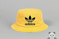 Яркая желтая панамка адидас,Adidas