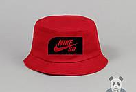 Красная модная панамка мужская найк,Nike SB