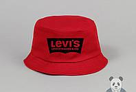 Красная модная панамка мужская Levi's