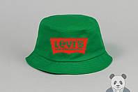 Зеленая модная панамка Levi's