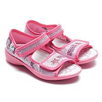 Сандалии текстильные для девочки, розовые, размер 23-30