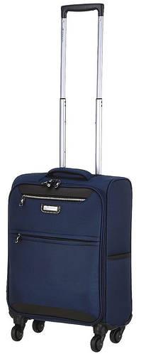 Синий чемодан 4-колесный из полиэстера малый 37 л. March Flybird 2453/04