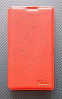 Чехол-книжка для Sony Xperia ZL, L35h, C6502, C6503, C6506, боковой, кожаный с силиконовой вкладкой, Pielcedan, Красный /flip case/флип кейс /сони