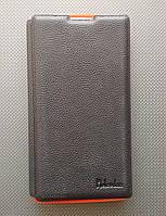 Чехол-книжка для Sony Xperia ZL, L35h, C6502, C6503, C6506, боковой, кожаный с силиконовой вкладкой, Pielcedan, Черный с красным /flip case/флип кейс