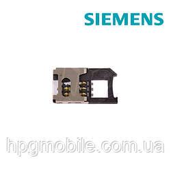 Коннектор SIM-карты для Siemens C65, C72, C75, CF62, CX65, CX70, M65, S65, SL65, SX1, оригинал