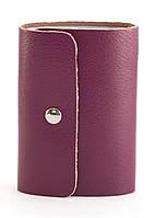Удобная бордовая женская карманная визитница на кнопке APPLE art. Б/Н визитница