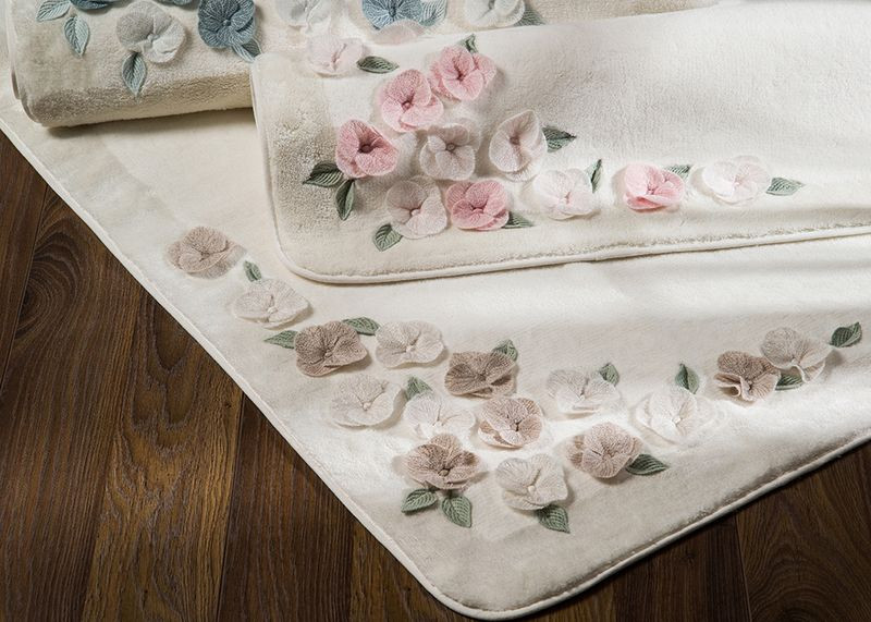 Коврик для ванной комнаты хлопок/бамбук Adney stone 70*120 белый. - April House производство и продажа товаров для дома в Одессе