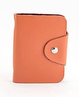 Оранжевая женская карманная визитница на кнопке APPLE art. Б/Н визитница , фото 1