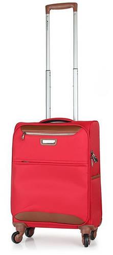 Красный качественный 4-колесный чемодан из полиэстера 37 л. March Flybird 2453/31
