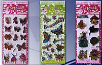 """Наклейки JO 7341-7 объемные """"Бабочки, пчёлки"""" 9x17 см"""