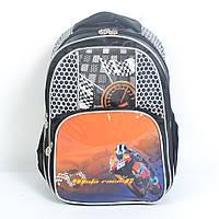 Модный школьный рюкзак для мальчика - Мотоциклист финиш - 87-1106