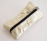 Вместительная золотистая двойная ключница на молнии art. (100667), фото 1