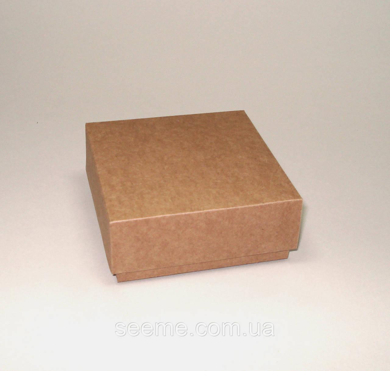 Коробка подарочная из крафт картона 85x85x35 мм.