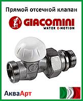 """GIACOMINI Прямой отсечной клапан с наружной резьбой 1/2"""" X18 (R31X034)"""