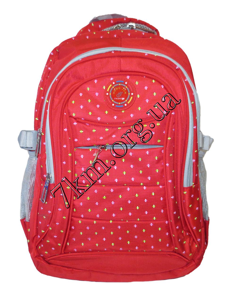 """Школьный рюкзак для девочек красный """"Hong Jun Fashion"""" Вьетнам (45х30см.)"""