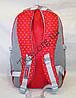 """Школьный рюкзак для девочек красный """"Hong Jun Fashion"""" Вьетнам (45х30см.), фото 3"""