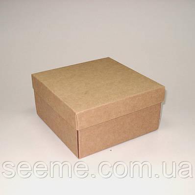 Коробка подарочная из крафт картона, 140х140х70 мм.