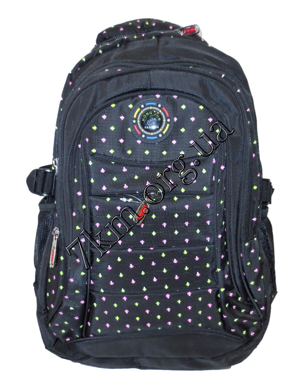 """Школьный рюкзак для девочек черный """"Hong Jun Fashion"""" Вьетнам (45х30см.)"""
