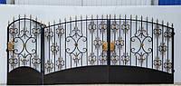 Ворота и калитка с пиками 1202