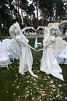 Живая статуя ангела, фото 1