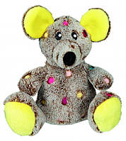 """Игрушка для собак """"Мышь плюш. в горошек"""" 17см"""