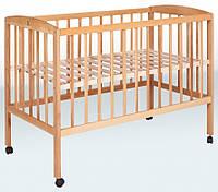 Детская кроватка Гойдалка с колесиками (натуральный)